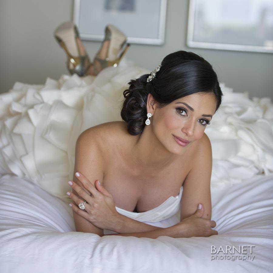 Barnet-Photography-RitzOC-KMW_014, A fun pose in the honeymoon suite at the Ritz Carlton Laguna Niguel